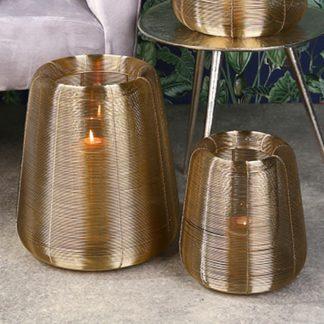 Windlicht LUCEMO Casablanca gold H 29 | 25 cm