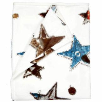 Tagesdecke | Kuscheldecke Beddinghouse LOTS OF STARS blue grey Bettüberwurf 130x170 cm
