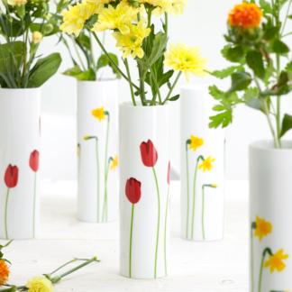 Vase TULPE   NARZISSE ASA Porzellan H 20,5 cm