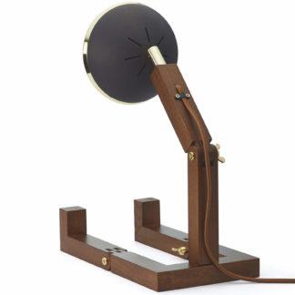 Design Tischlampe Limited Edition MR. WATTSON Lampe Brass Matt Black Piffany Copenhagen aus Eschenholz H 40 cm