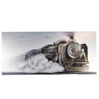 """Leinwandbild auf Keilrahmen """"TRAIN"""" Casablanca 3D 80 x 180 cm"""