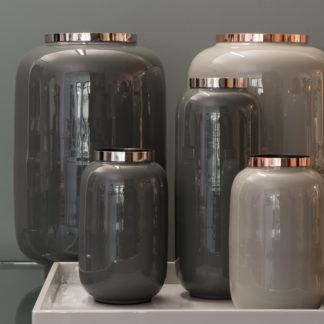 Vase S A I G O N Gift Company Dunkelgrausilber H 40 30 20 Cm 1 324x324