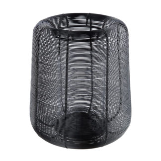Windlicht LUCERNO Casablanca schwarz H 29 | 25 cm