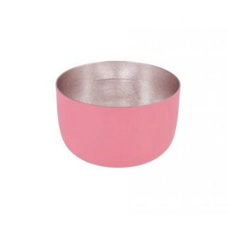 Windlicht MADRAS GiftCompany pink nudegold H 5 cm