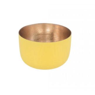 Windlicht MADRAS GiftCompany lemon/nudegold H 5 cm