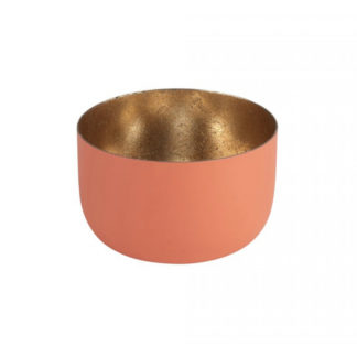 Windlicht MADRAS GiftCompany light coral/nudegold H 5 cm