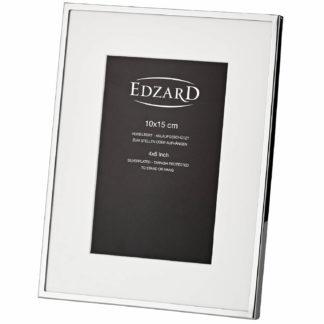 Fotorahmen RIMINI Edzard edel versilbert für Foto 10x15 cm anlaufgeschützt