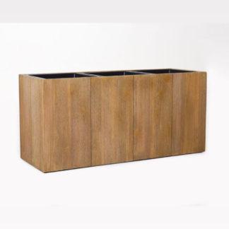 Pflanzkübel | Pflanzkasten Holz MAXIMA hellbraun 95x33x45 cm