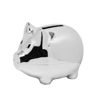 Spardose | Sparschwein PIGGY Edzard versilbert
