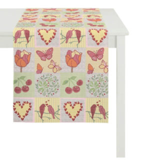 Tischläufer Apelt 5313 col. 50 SPRING FEELINGS Mosaik 44x140 cm