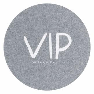 Tischset | Platzset | Platzdeckchen Magma Avaro grau VIP ø 38 cm