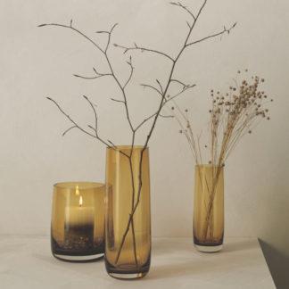 Vase / Windlicht AJANA ASA amber