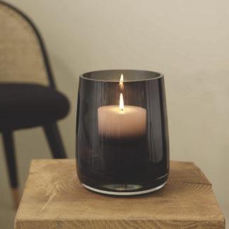 Vase | Windlicht AJANA ASA ø 14,5 | H 18 cm grau