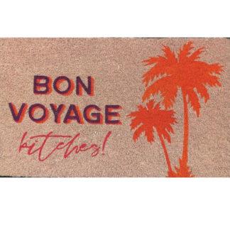 Fussmatte Bon Voyage neon, rosa.