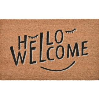 Fussmatte Hello Welcome natur 45 x 75