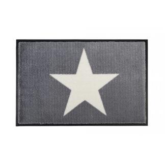 Fußmatte waschbar STAR grau GiftCompany 50 x 75 cm