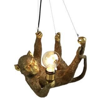 Pendelleuchte ÄFFCHEN CHARLIE Werner Voss gold H 30 cm