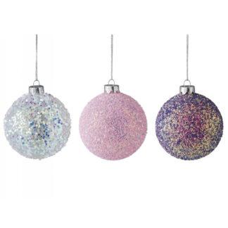 Weihnachtskugel 3er Set SEOUL GiftCompany Glitter ø 8 cm