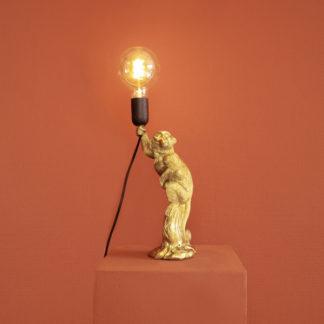 Tischlampe ÄFFCHEN Werner Voss gold H 33 cm