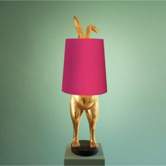 .Tischlampe HIDING BUNNY Werner Voss gold:magenta H 74 cm