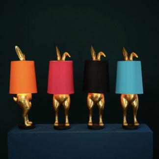 Tischlampe HIDING BUNNY Werner Voss gold/magenta H 74 cm