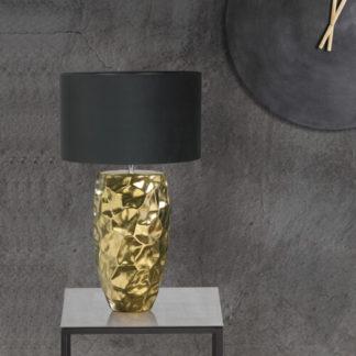 Tischlampe | Tischleuchte BENNET gold H 39 cm