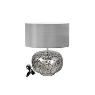 Tischlampe Tischleuchte V U L C A N I C Silber H 50 55 Cm 1 324x324