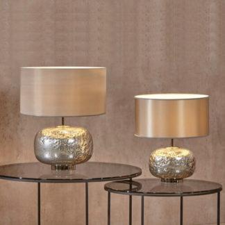 Tischlampe | Tischleuchte VULCANIC silber H 50 |55 cm