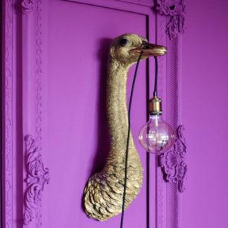 Wandlampe FRANZ JOSEF Werner Voss gold H 72 cm