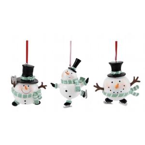 Weihnachtsbaumschmuck 3er-Set SANTA | SCHNEEMANN Gilmore Kaheku H 10 cm