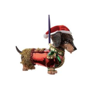 Weihnachtsbaumschmuck DACKEL IN UNIFORM GiftCompany H 10 cm