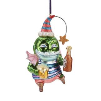 Weihnachtsbaumschmuck FISCH MIT FLASCHE GiftCompany H 13 cm