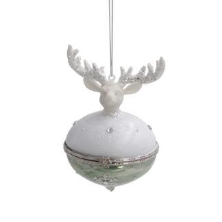 Weihnachtsbaumschmuck GLASZWIEBEL MIT HIRSCH Werner Voss H 12 cm