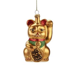 Weihnachtsbaumschmuck WINKEKATZE GiftCompany H 11 cm