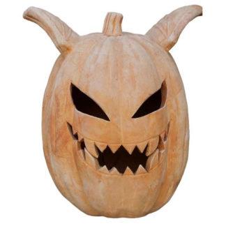 Halloween Deko Kürbis Terrakotta H 34 cm