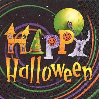 Halloween Deko Papier Servietten HAPPY HALLOWEEN 30x30 cm