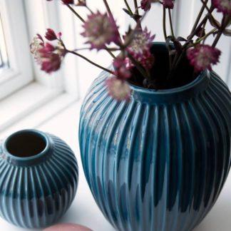 HAMMERSHOI Vase Kähler petrol H 12,5 cm
