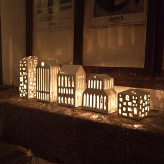 Kähler Lichthaus BASILICA weiß H 15 cm