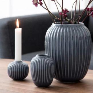 Kerzenständer   Kähler Kerzenhalter HAMMERSHOI anthrazit Höhe 6,5 cm