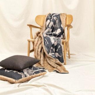 Plaid Magma NAMIBIA schwarz 135 x 200 cm
