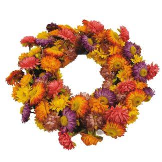 Türkranz Herbst Kunst Blütenkranz auf Rebe ø 30 cm