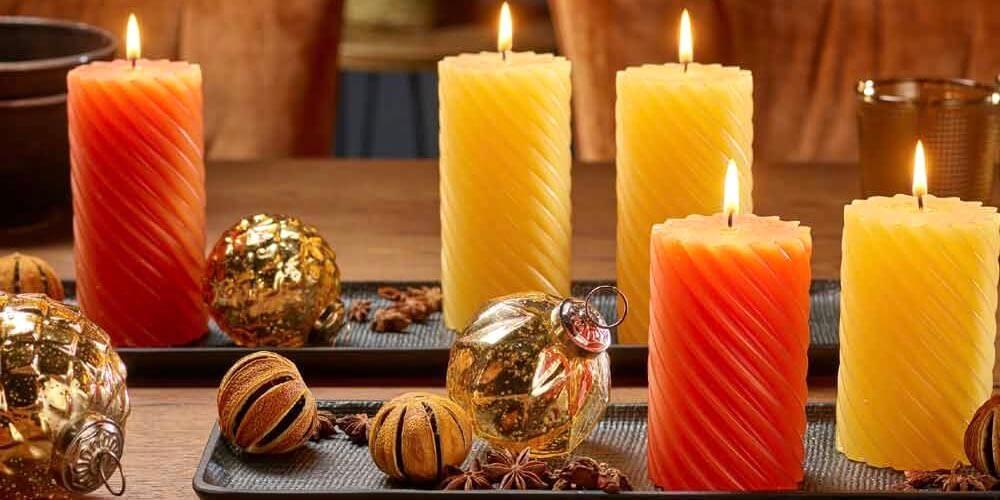 Weihnachtskerzen, LED Kerzen aus Naturwachs